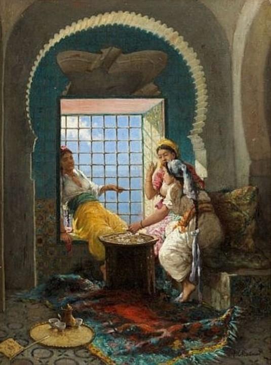 La partie de cartes au harem par alfred chataud 1833
